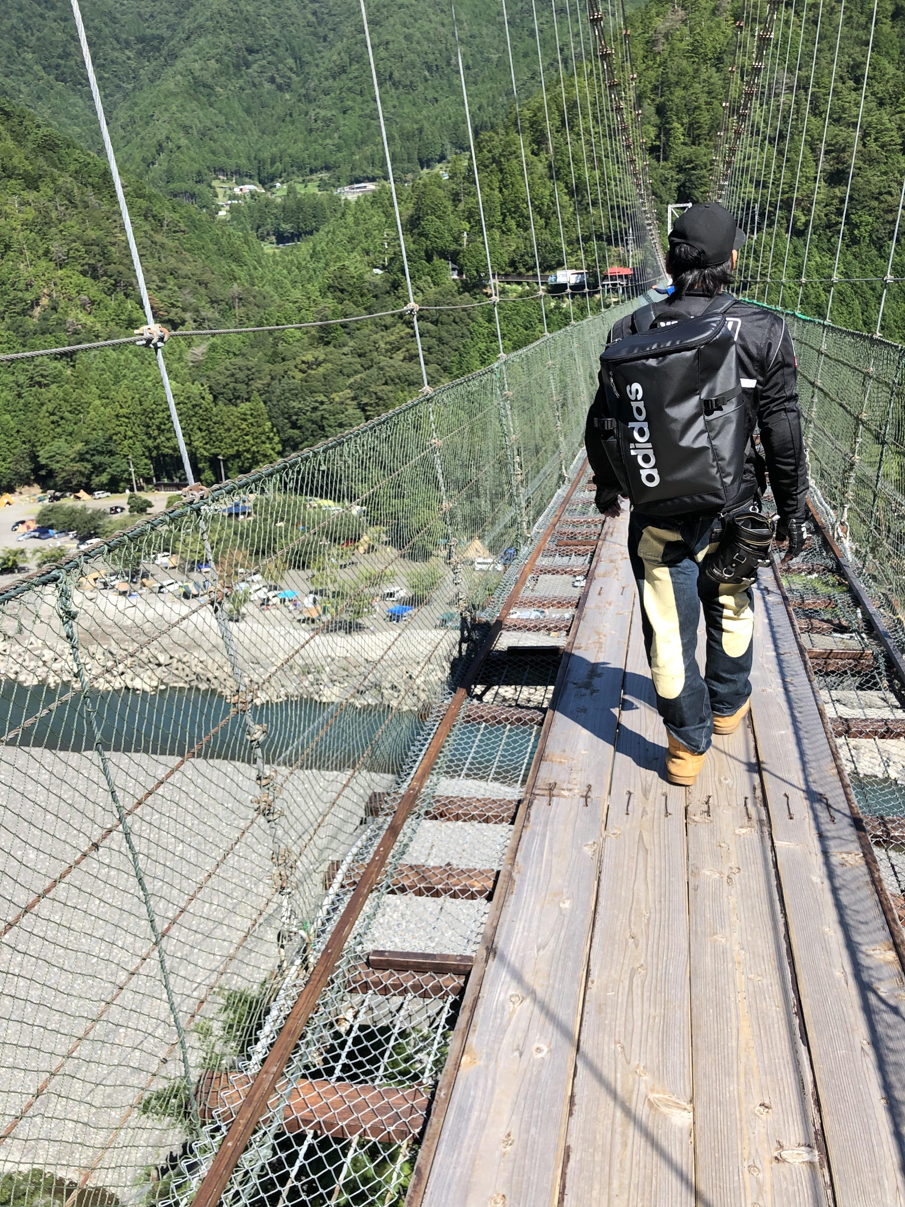ぴーきち&ダイナ ハーレー で行く 十津川村 ツーリング 谷瀬の吊り橋