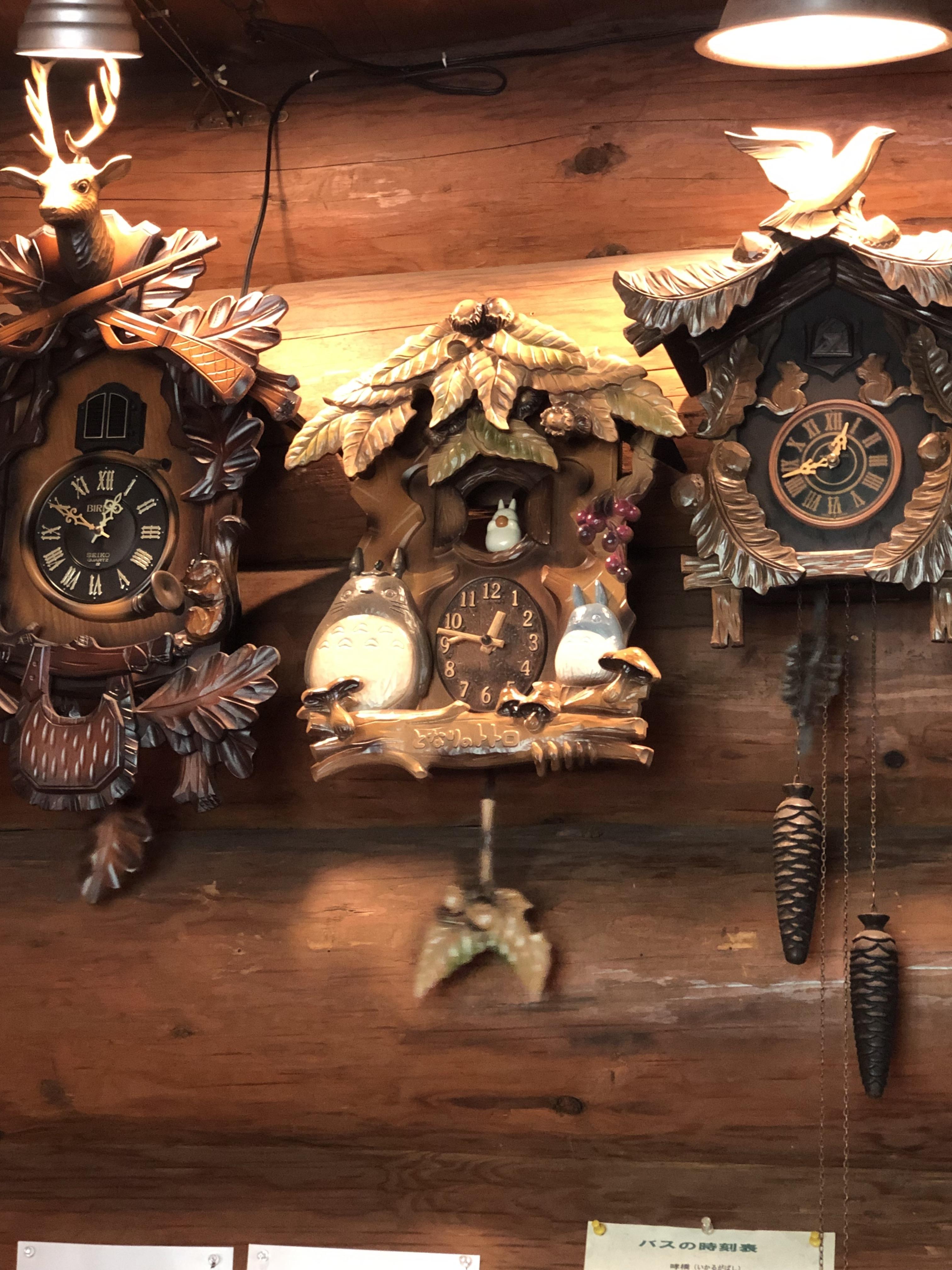 ハーレー 磐船街道 おじいさんの古時計 トトロの鳩時計