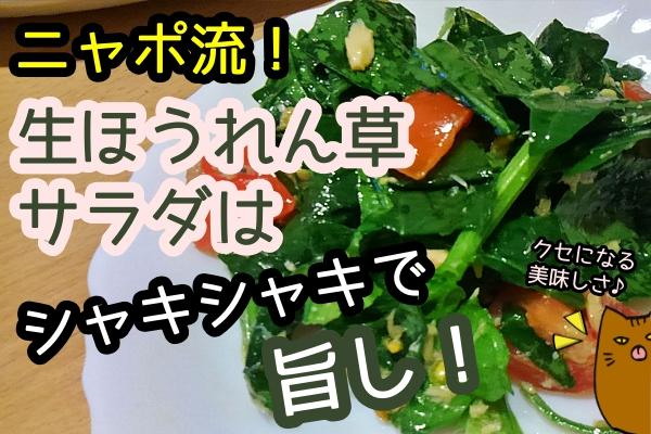 ほうれん草 サラダ