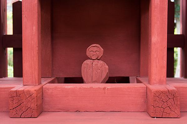 喜多山1天王社素朴な彫刻
