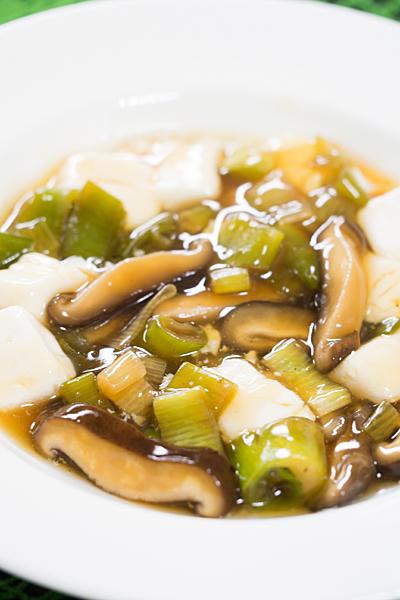 豆腐のシイタケタレ