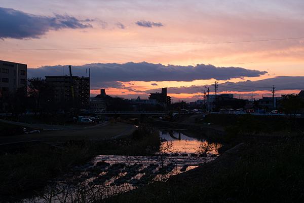 香流川夕焼け