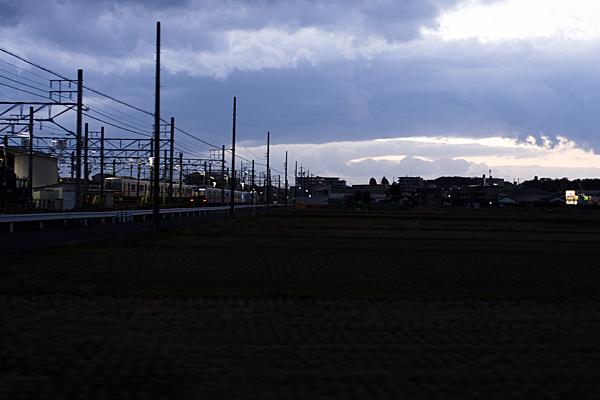瀬戸電夕景