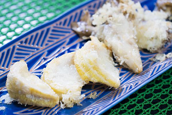 タケノコとマイタケの天ぷら