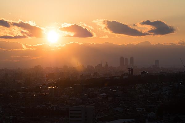 名古屋駅方面夕焼け