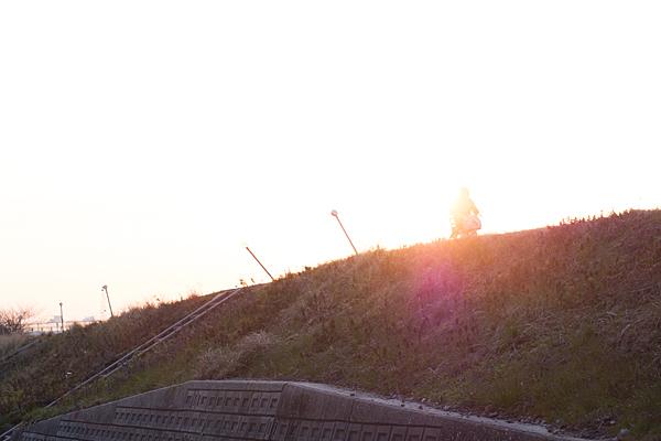 矢田川土手夕景