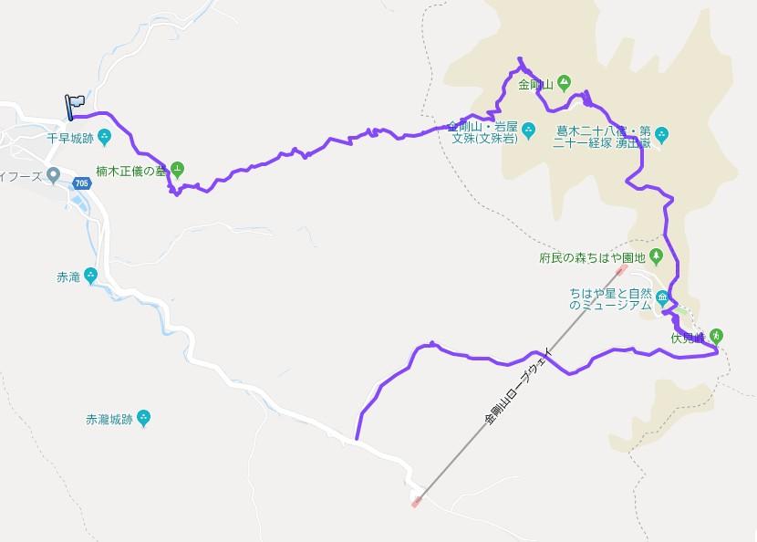 1901-0a-金剛山-軌跡