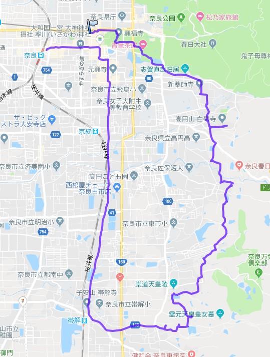 1901-00a-山の辺の道-軌跡