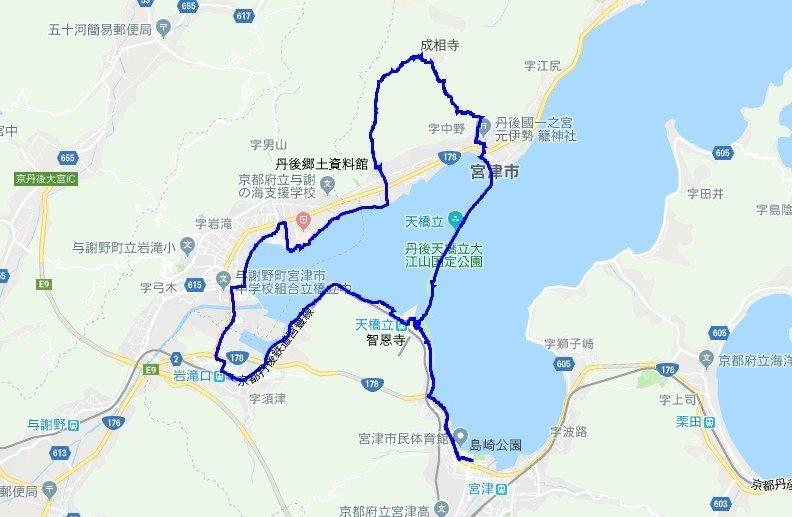 1909-00a-天橋立2日目-軌跡