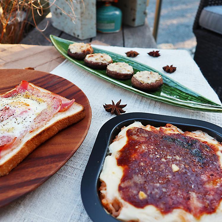 大谷石ガスピザ窯で作った料理