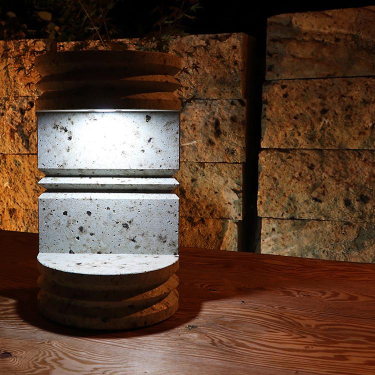 大谷石製調光調色ライト