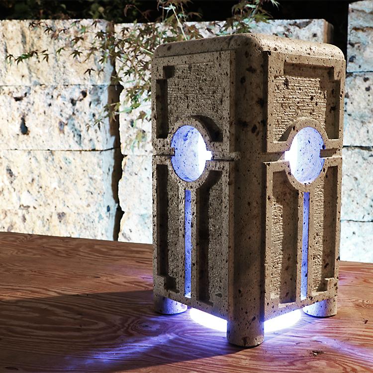 大谷石製の調光調色照明