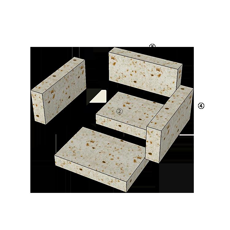 大谷石ピザ窯ピッコロの組み立て方1