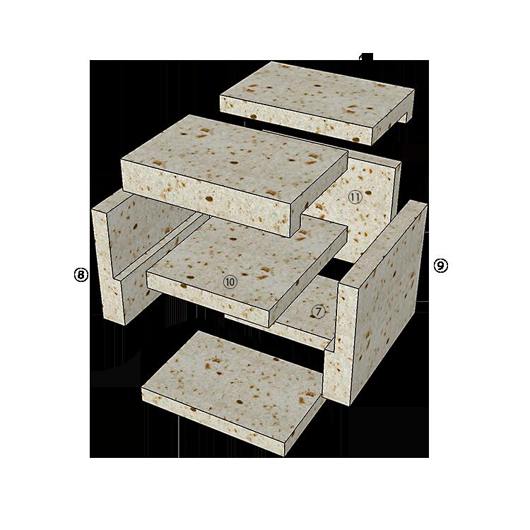 大谷石ピザ窯ピッコロの組み立て方2