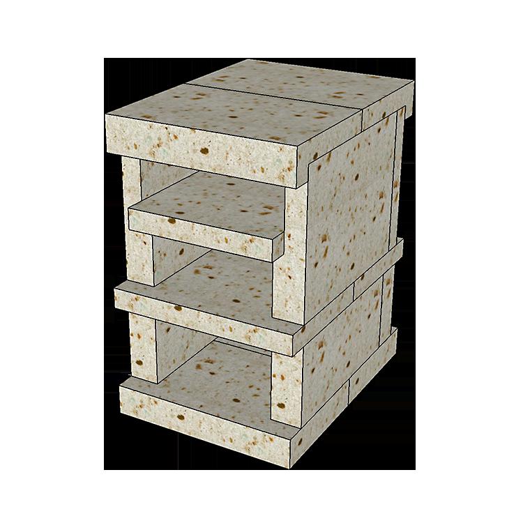 大谷石ピザ窯ピッコロの組み立て方3