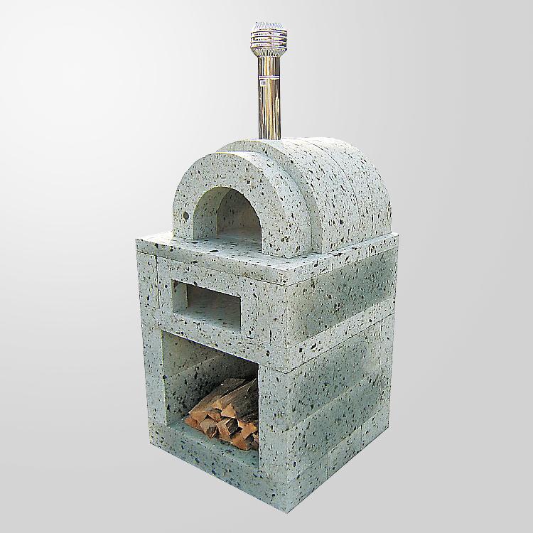 大谷石製二層式ピザ窯ピエーノ