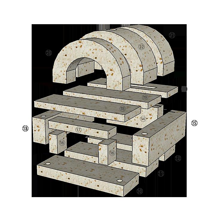 大谷石ピザ窯PIENOの組み立て方2