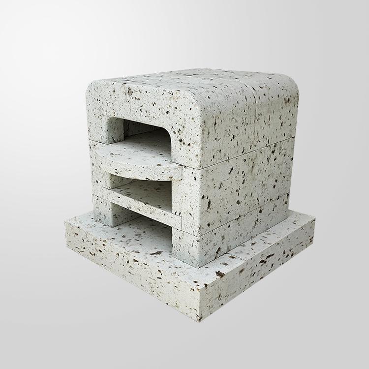 大谷石製二層式ピザ窯ポポラ