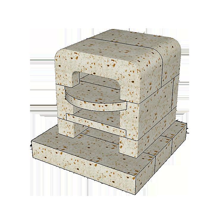 大谷石ピザ窯POPOLAの組み立て方2