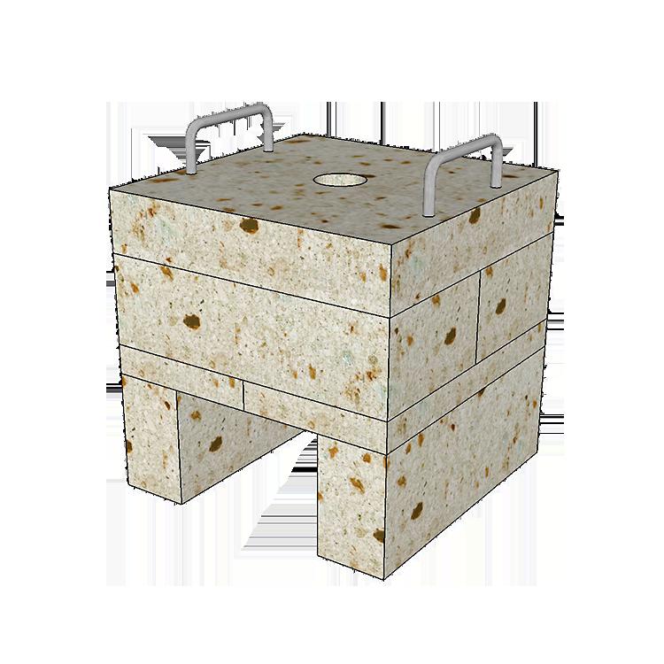大谷石ガスピザ窯SAIの組み立て方2