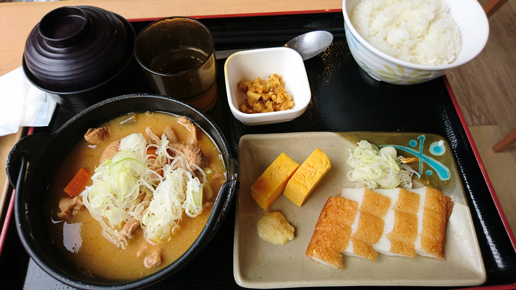 富士小山 道の駅 もつ煮定食