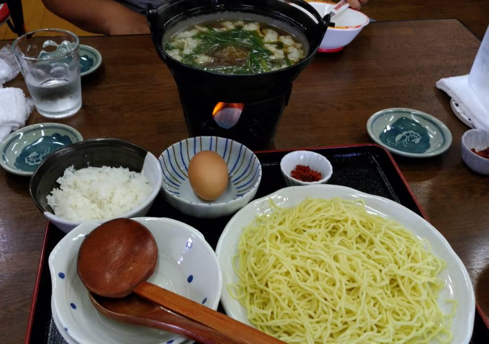 ラーメン夢幻 モツ鍋つけ麺