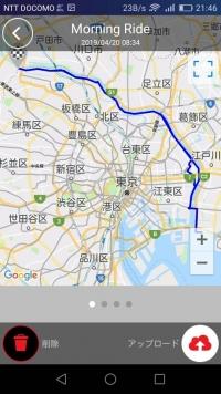 2019/04/20 走行マップ
