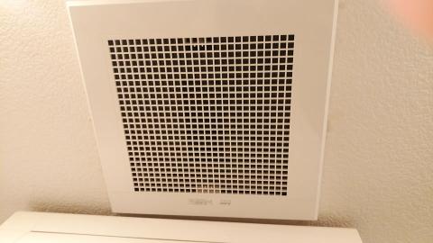 洗面の換気扇も綺麗に