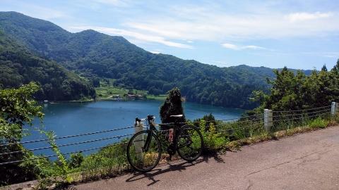 野尻湖を見下ろす、綺麗でした~!