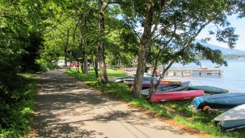外国の避暑地の様相の野尻湖