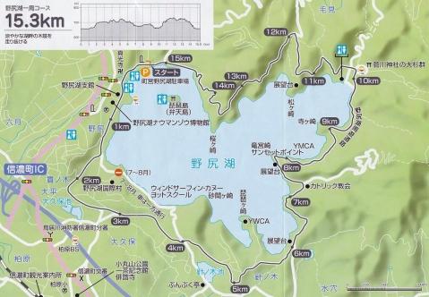 野尻湖一周マップ