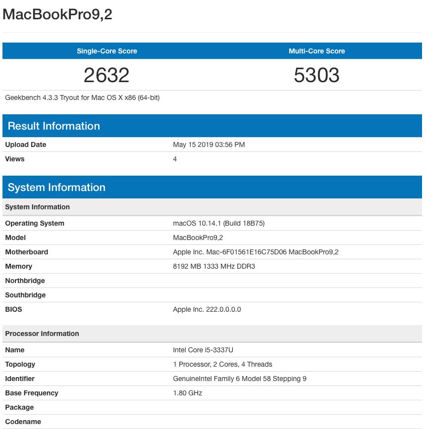 ThinkPad e130 にHackintosh Mojave インストール成功! - macOS