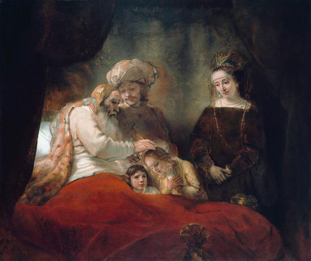 『ヨセフの息子たちを祝福するヤコブ』 レンブラント・ファン・レイン