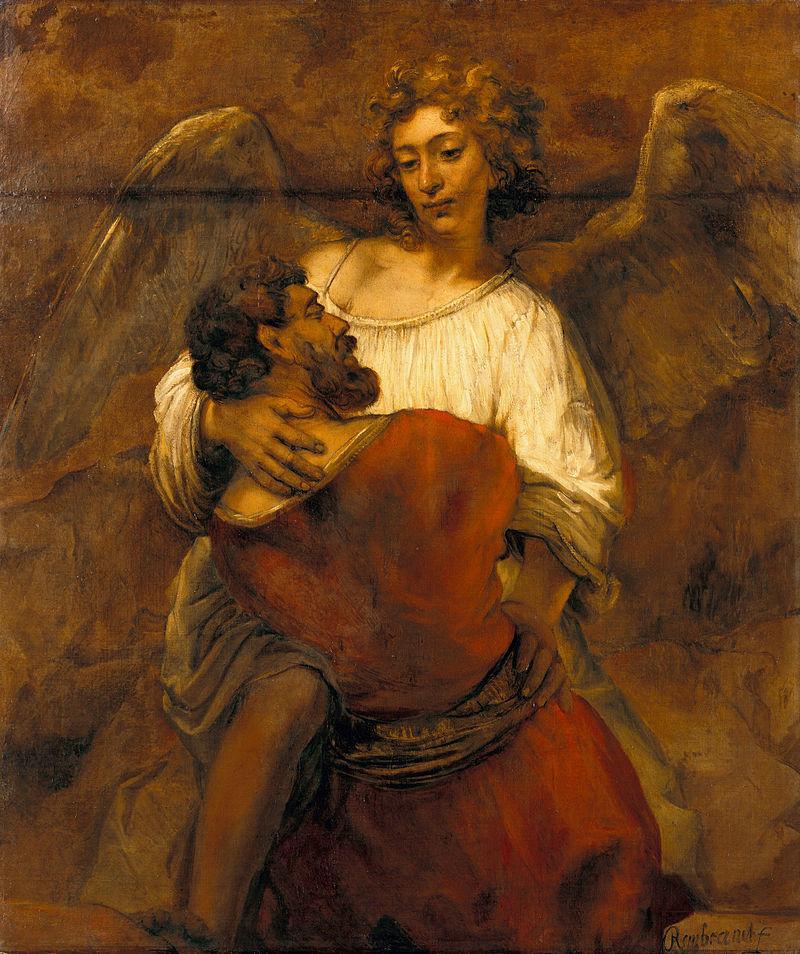 『天使と格闘するヤコブ』 レンブラント・ファン・レイン