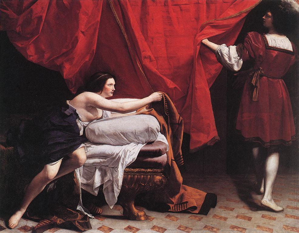 『ヨセフとポティファルの妻』 オラツィオ・ジェンティレスキ