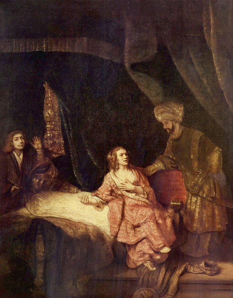 『ヨセフとポティファルの妻』 レンブラント・ファン・レイン