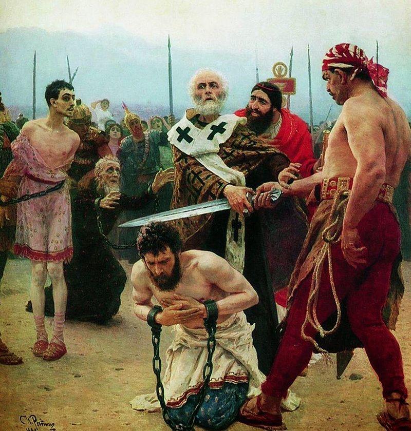 『ミラの聖ニコライ、無実の三人を死刑から救う』 イリヤ・レーピン