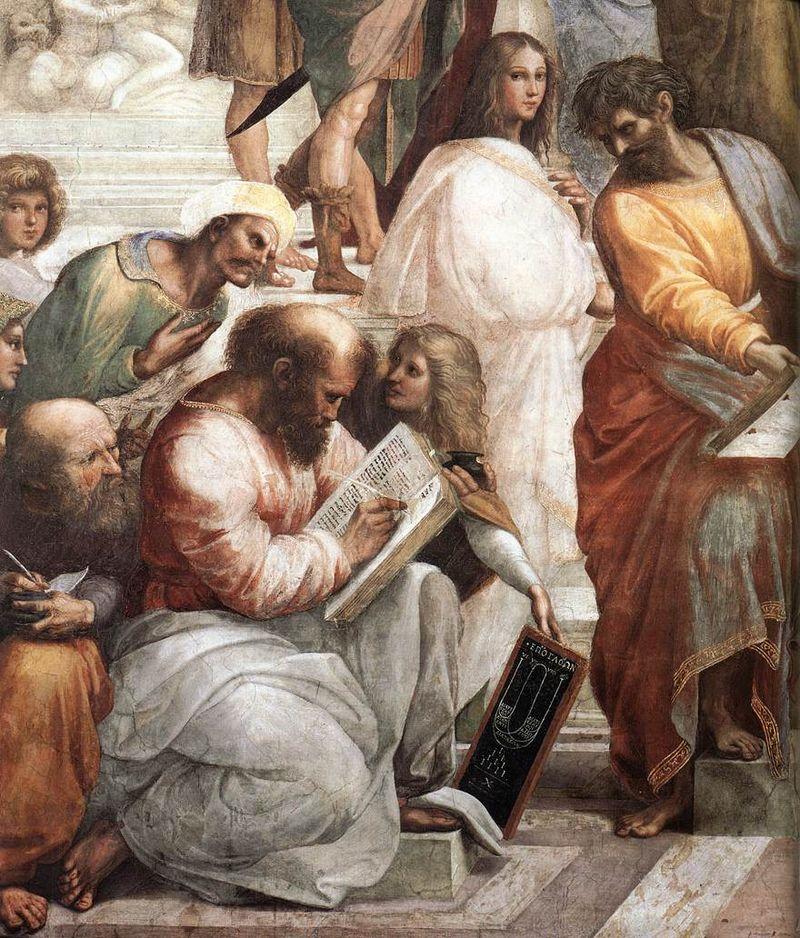 『アテナイの学堂』に描かれたピタゴラス