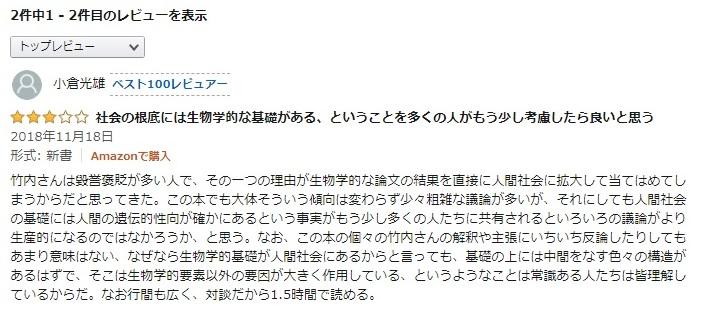 アマゾンレビュー 小倉光雄