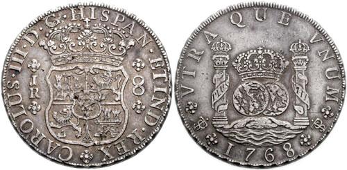 スペインドル、1768年