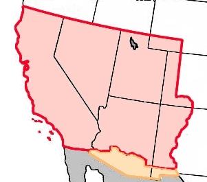赤:メキシコ割譲地