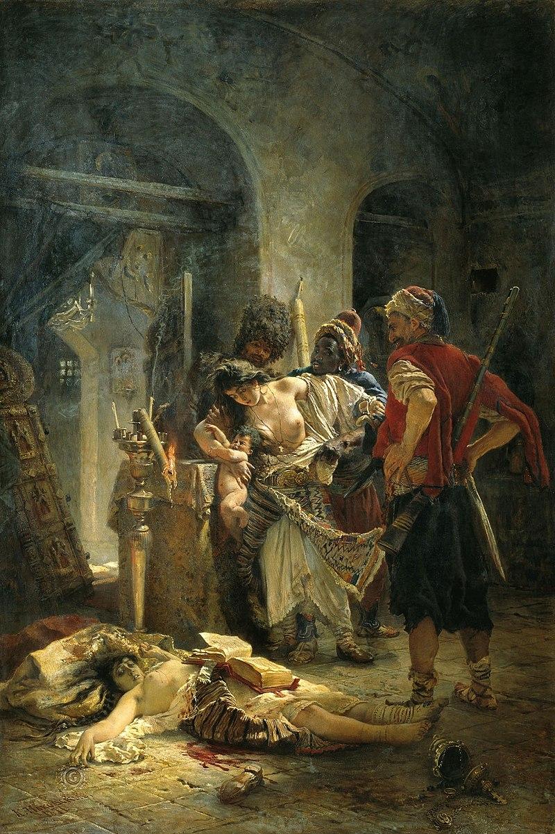 『ブルガリアの致命女達』 コンスタンチン・マコフスキ