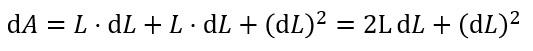 正方形 面積 微分積分 3