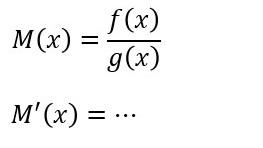 微分 551  割り算の函数の微分