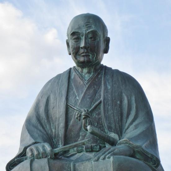 関孝和の銅像(群馬県藤岡市)
