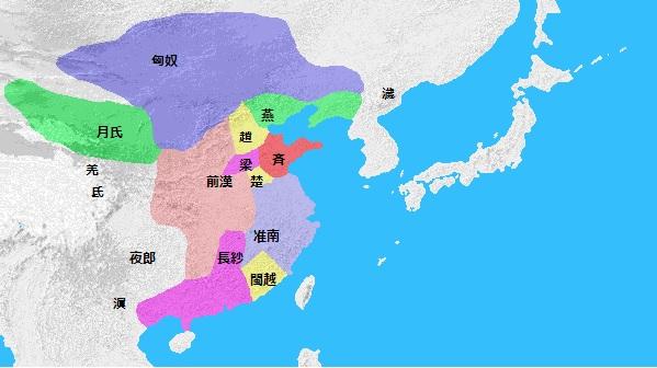 紀元前206年頃の日本周辺