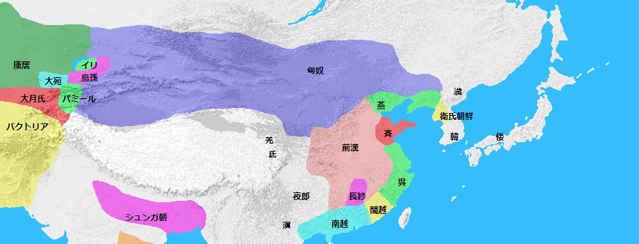 紀元前176年頃の日本周辺