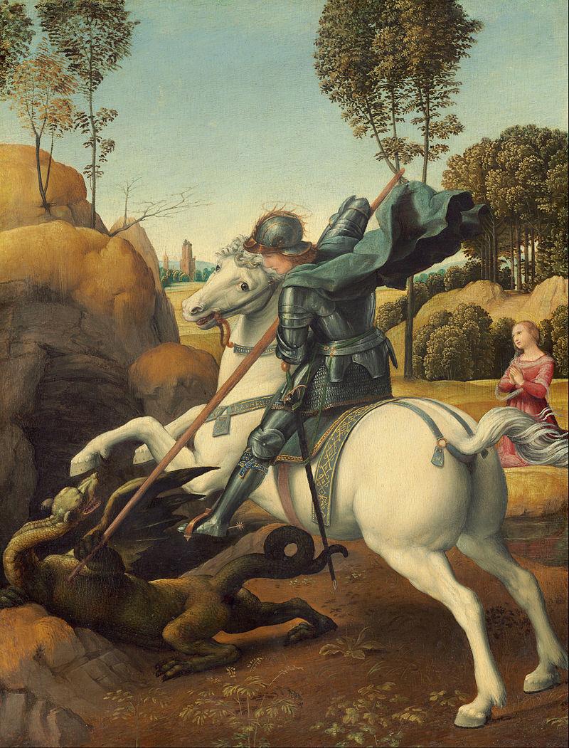 聖ゲオルギオスとドラゴン(ラファエロ画)