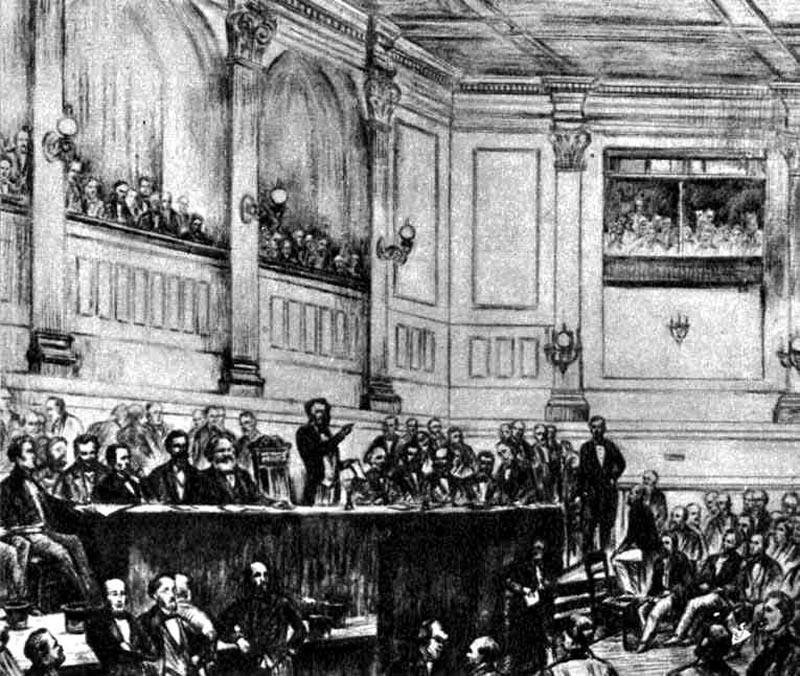 国際労働者協会発足集会、1864年9月28日