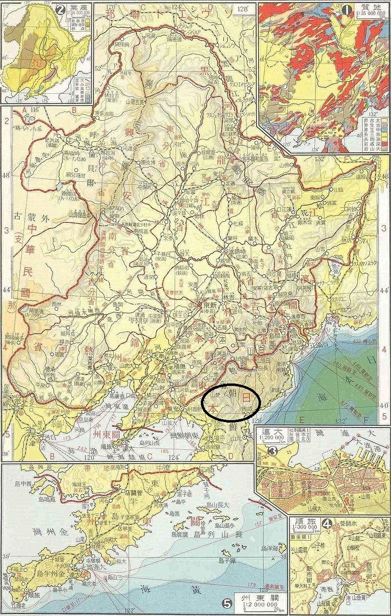 満洲国地図